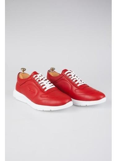 Tripy Hakiki Deri Sneakers Kırmızı